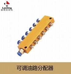 可调合金油排 锌合金分配器 容积式分配器 磁力座 冷却管