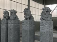 石雕拴馬柱