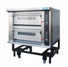 热销款德焙二层四盘SK-622电烤箱面包店设备披萨炉层式蒸汽烤箱