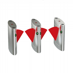 Card or coin operated access control system Flap turnstile gate