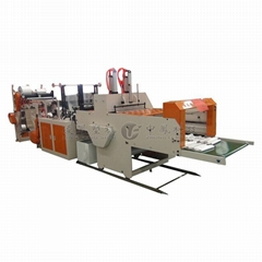 Full-automatic Four-roll Feeder Cold Cutting T-shirt Bag Making Machine