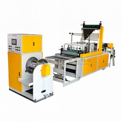 Full-automatic Single Line Double C-folding Rolling Bag Making Machine with Core