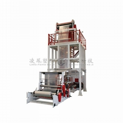 High Speed LDPE Double Screw ABA Three Co-Extrusion Film Blowing Machine