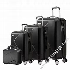 Hot Sale Hard Shell President Trolley Bag Colorful L   age Travel Set