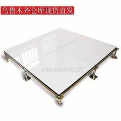 新疆陶瓷面防靜電地板烏魯木齊瓷磚面機房架空活動地板全鋼象牙白
