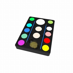 ES-PO-008 10 Customized Color and 2 Brushes 1 Glitter 3 Sponges