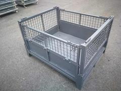 Ga  anized wire mesh storage container