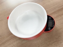 Food scale with bowl