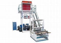 HDPE LDPE Twin Head High Speed Blown Film Machine
