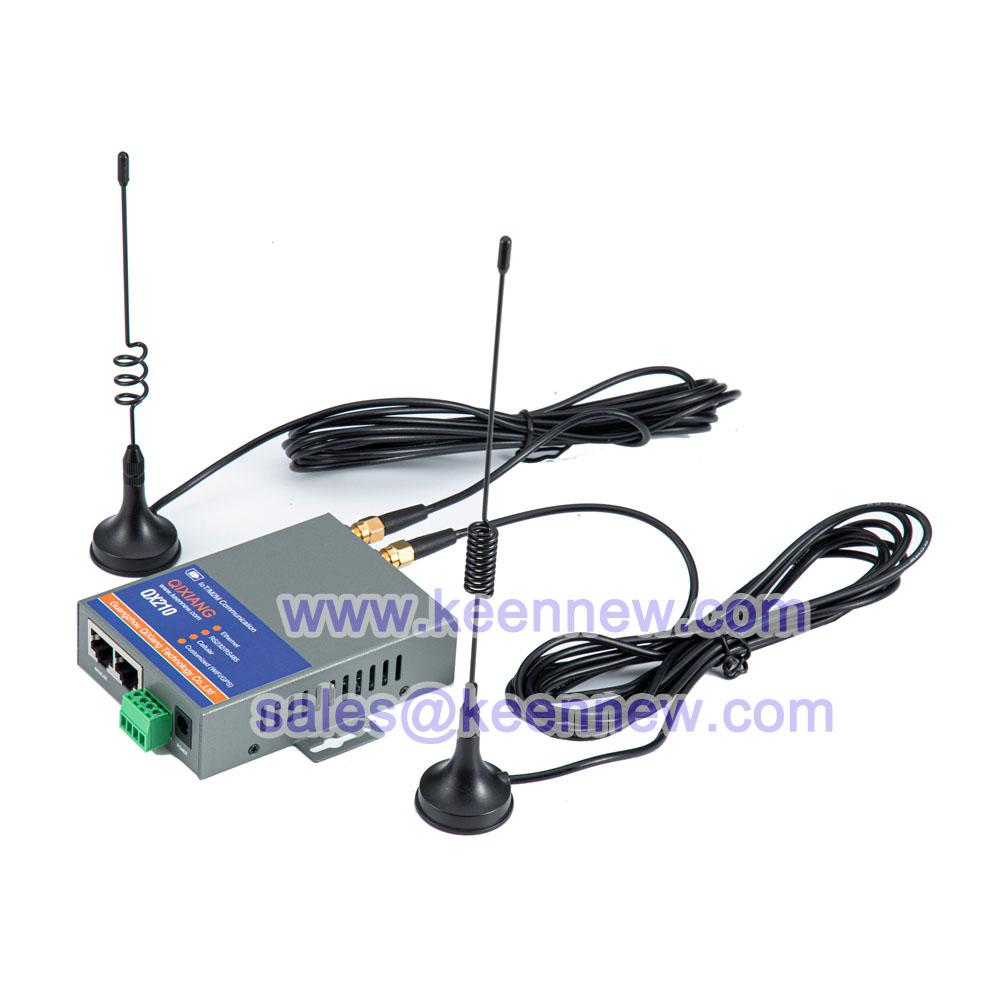 Qixiang iot m2m industrial grade 4g LTE router with sim card slot Serial DTU 2