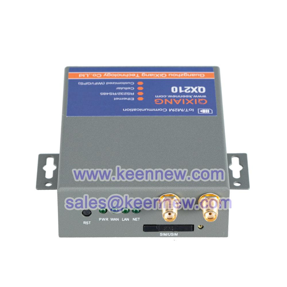 Qixiang iot m2m industrial grade 4g LTE router with sim card slot Serial DTU 4