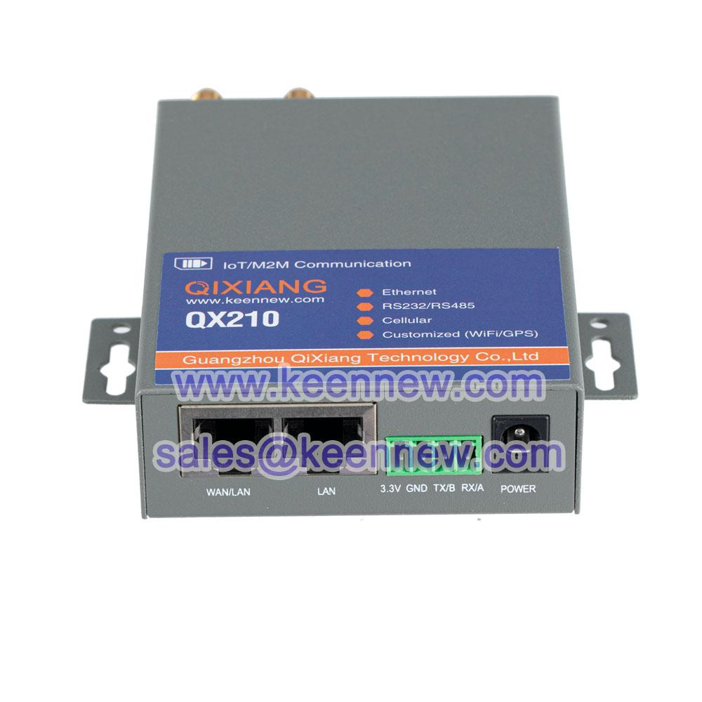 Qixiang iot m2m industrial grade 4g LTE router with sim card slot Serial DTU 5