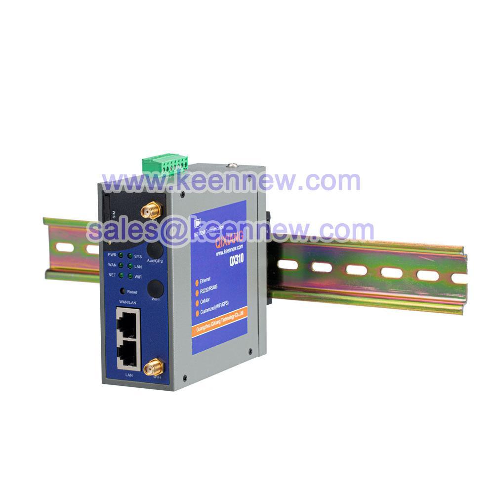 Industrial 4g wireless modem router din rail mount 2 port Modbus RTU TCP 4