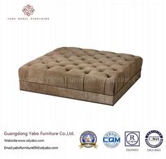 5 Star Hotel Furniture for Square Leisure Sofa Ottoman