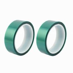 綠色PET高溫膠帶耐酸碱無殘膠綠色硅膠高溫膠帶