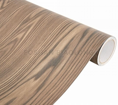 Waterproof Embossed Matte Wood Texture Self Adhesive Vinyl PVC Film for Furnitur