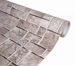 Eco-friendly Fireproof Brick Texture Self Adhesive PVC Film Vinyl Wallpaper