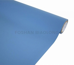 Opaque Anti scratch Flat Surface Soft Touch Sky Blue Color PVC Vinyl Film