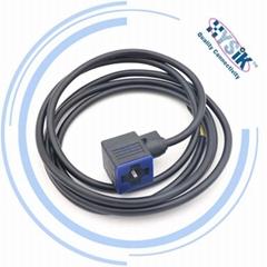 EN175301-803 MURR A型18mm 带1M线电磁阀插头3芯 4芯 矩型阀门连接电缆