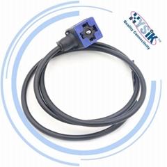耐低温-40°C 电磁阀插头连接器 24V DC,220V AC 液压阀电缆组件