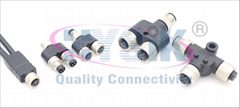 1683413 SAC-3P-M12Y/2XM12FS Y型分线器 防水连接器插头