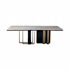 佛山六號倉家居不鏽鋼輕奢定製餐桌2