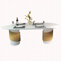 佛山六號倉家居不鏽鋼輕奢定製餐桌3