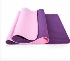 Eco Friendly TPE Yoga Mat Y8 Wide Thick Workout Exercise Mat Non Slip Grip Pila