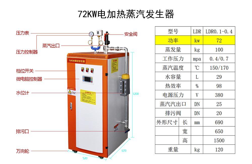 72kw电加热蒸汽发生器 2