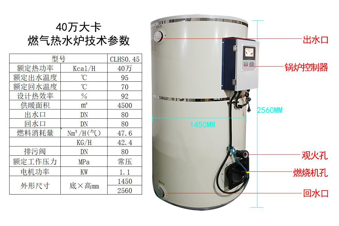 40万大卡燃气燃油天然气液化气采暖热水锅炉 1