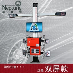 3D四輪定位儀 DT201CT 固定橫杆固定機櫃雙屏款