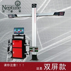 3D四輪定位儀 DT201ET 固定橫杆獨立機櫃雙屏款