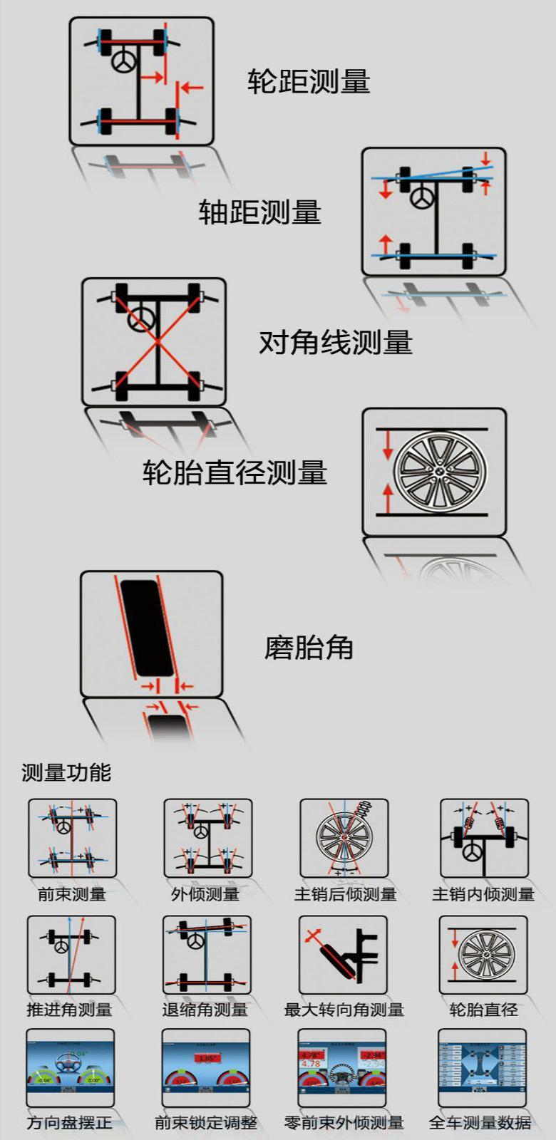 3D四輪定位儀 DT211ET 手動滑動橫杆獨立機櫃雙屏款 4