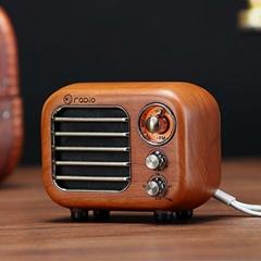 復古藍牙收音機音箱 實木復古藍牙音響