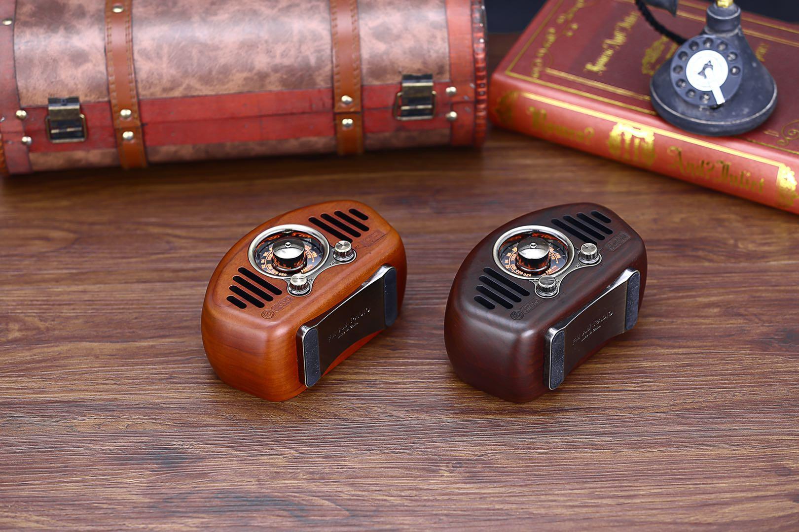 复古造型实木无线蓝牙音箱创意音响收音机 1