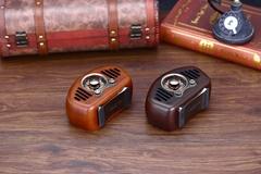 复古造型实木无线蓝牙音箱创意音响收音机