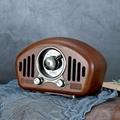 复古造型实木无线蓝牙音箱创意音响收音机 3
