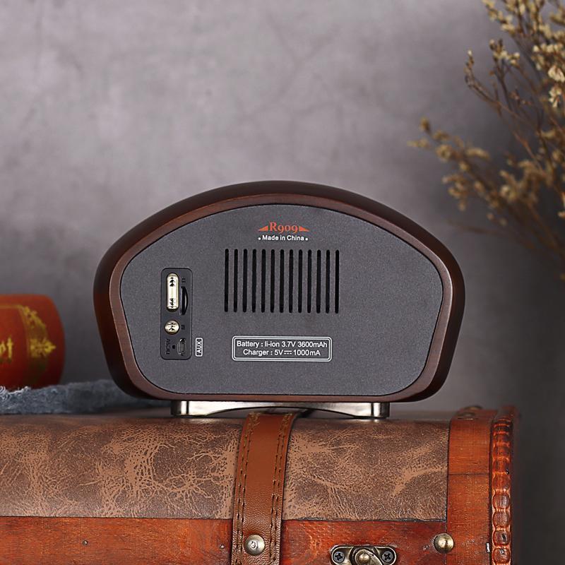 复古造型实木无线蓝牙音箱创意音响收音机 5