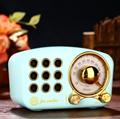 无线便携蓝牙音箱 迷你小音响 可爱复古音响家用低音炮收音机 4