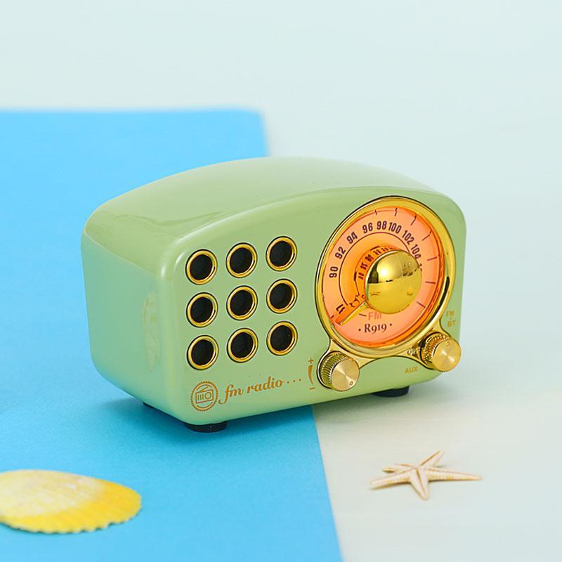 蓝牙收音机  迷你复古收音机 便携式收音机复古蓝牙音箱 3