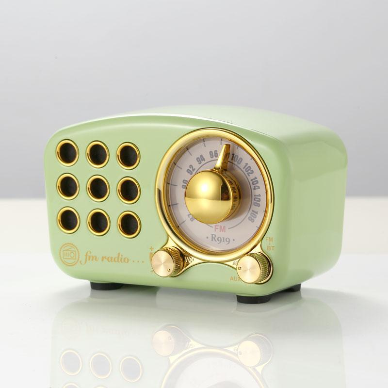 蓝牙收音机  迷你复古收音机 便携式收音机复古蓝牙音箱 5