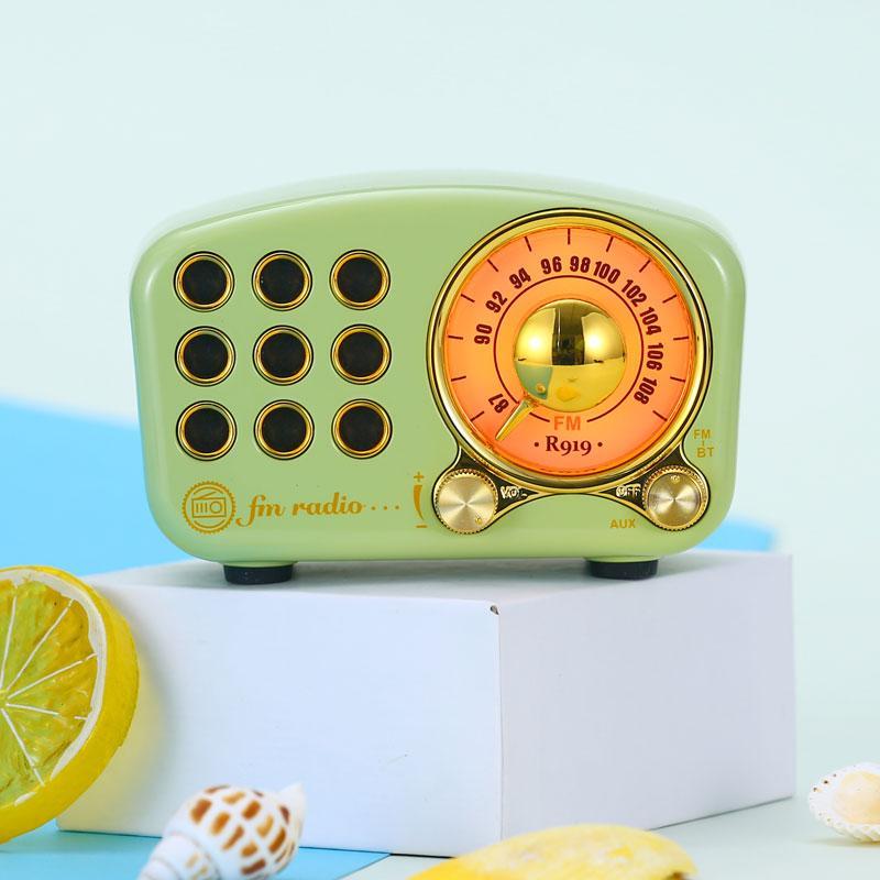 复古蓝牙音箱无线收音机便携式高清低音炮小音箱 2