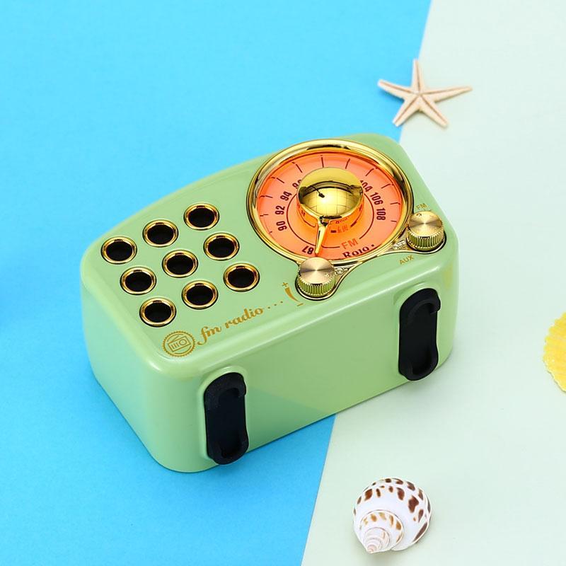 复古蓝牙音箱无线收音机便携式高清低音炮小音箱 4