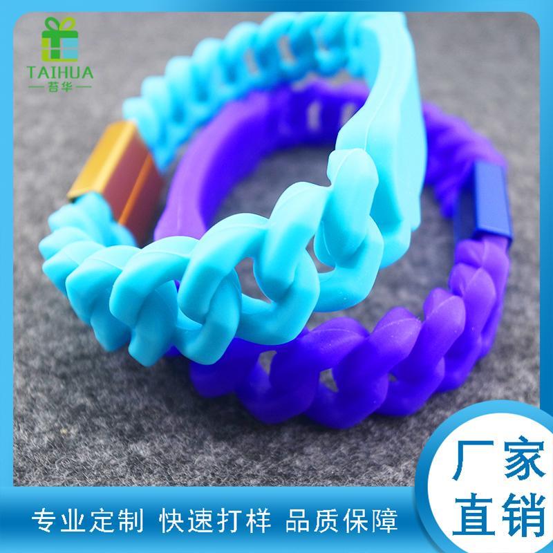硅胶麻花手环活动礼品手腕带麻花编织手环硅胶手环厂家定制 5