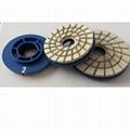 """4"""" 4-step diamond resin chamfering wheels for granite 3"""