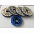 """4"""" 4-step diamond resin chamfering wheels for granite 1"""