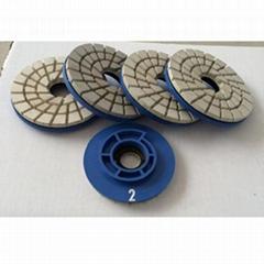 """4"""" 4-step diamond resin chamfering wheels for granite"""