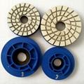 """4"""" 4-step diamond resin chamfering wheels for granite 4"""