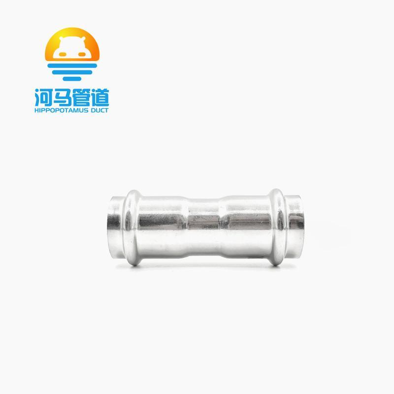 304不锈钢双卡压等径直通接头薄壁燃气管道水管直接接头管件配件 3
