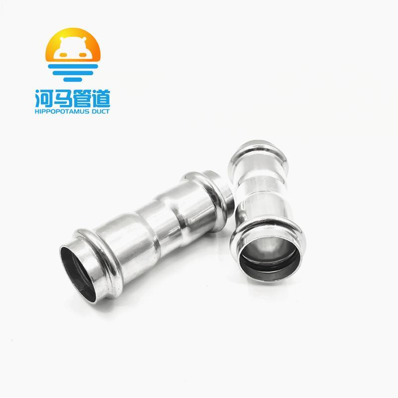 304不锈钢双卡压等径直通接头薄壁燃气管道水管直接接头管件配件 4